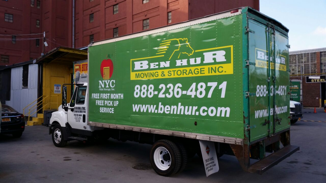Moving Truck Unloading At Our Warehouse In The Bronx Ben